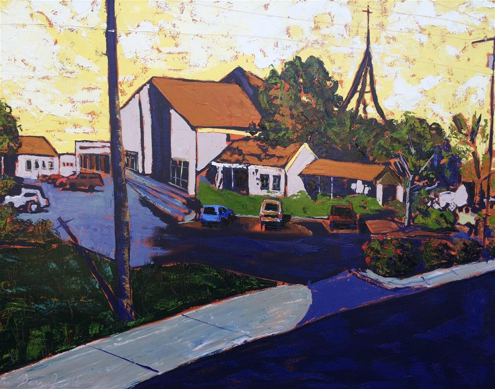 """Church on Anderson Ln."" original fine art by Darryl Freeman"