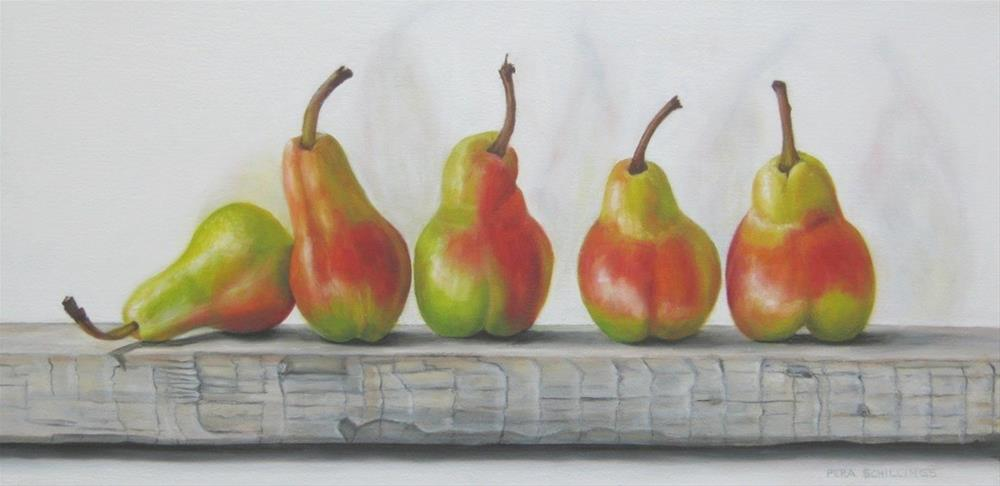 """Five Forell Pears"" original fine art by Pera Schillings"