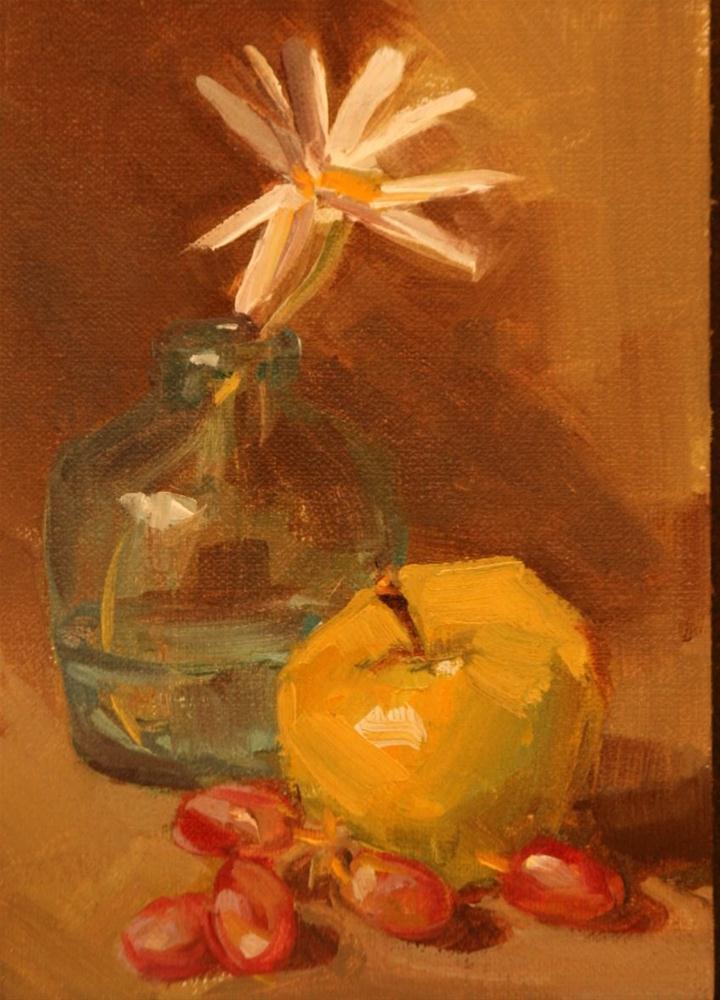 """""""daisy blue"""" original fine art by Carol Carmichael"""