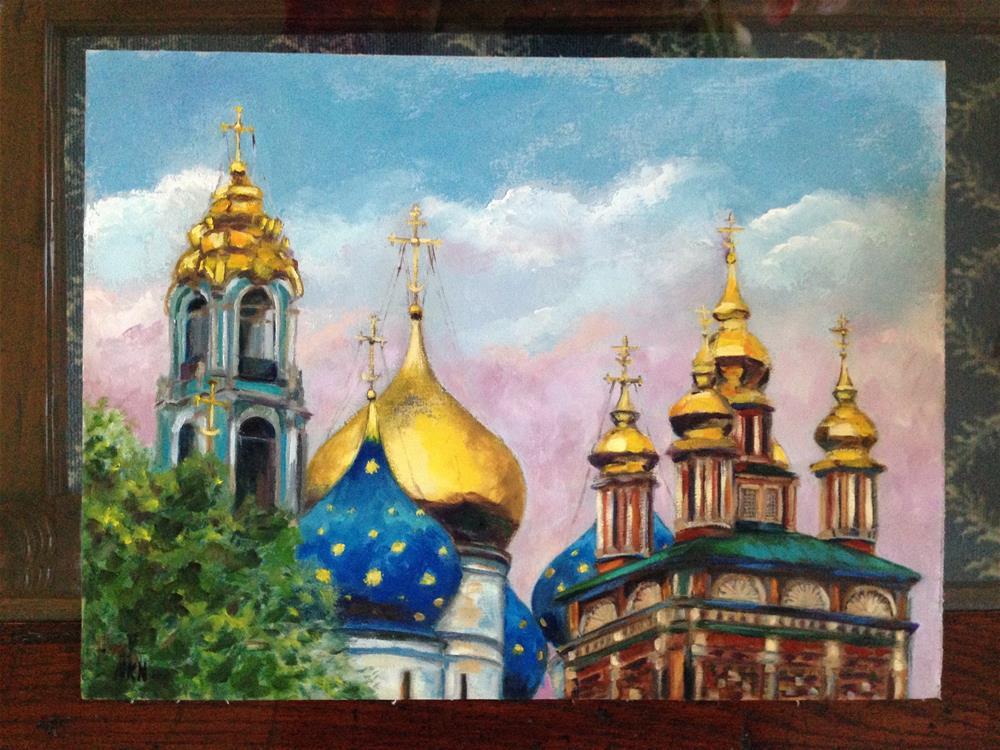 """Trinity Lavra of St.Sergius, Russia"" original fine art by Nina K. Nuanes"