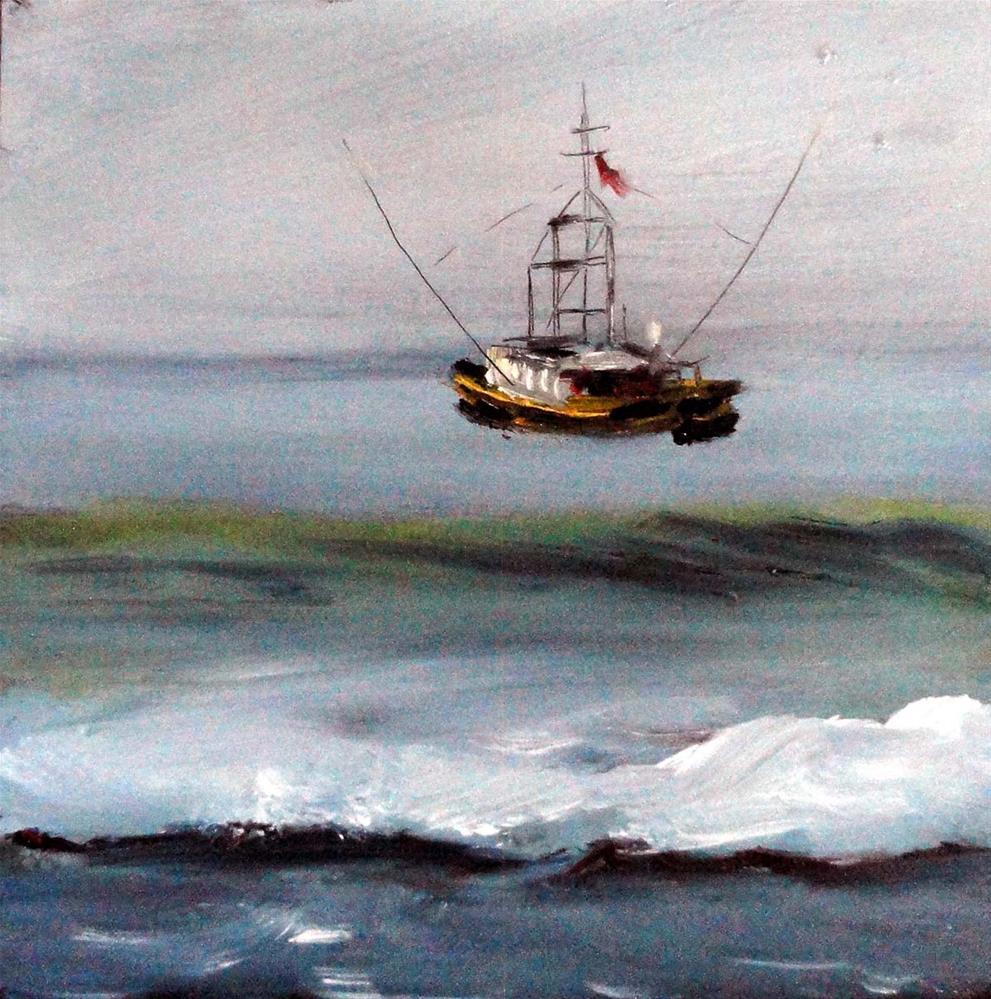 """Salmon Troller"" original fine art by Cietha Wilson"