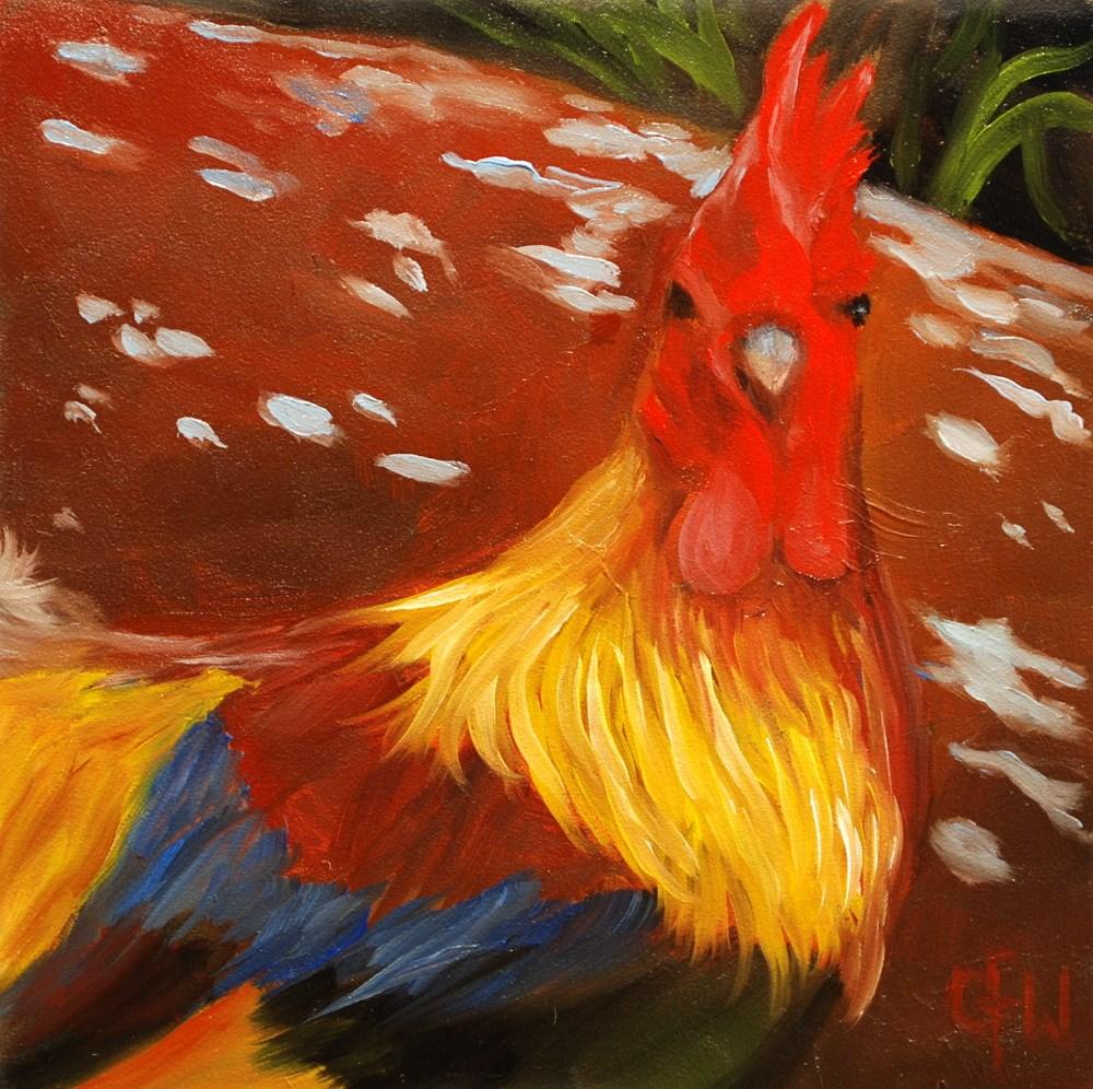 """""""Jungle Chicken"""" original fine art by Gary Westlake"""