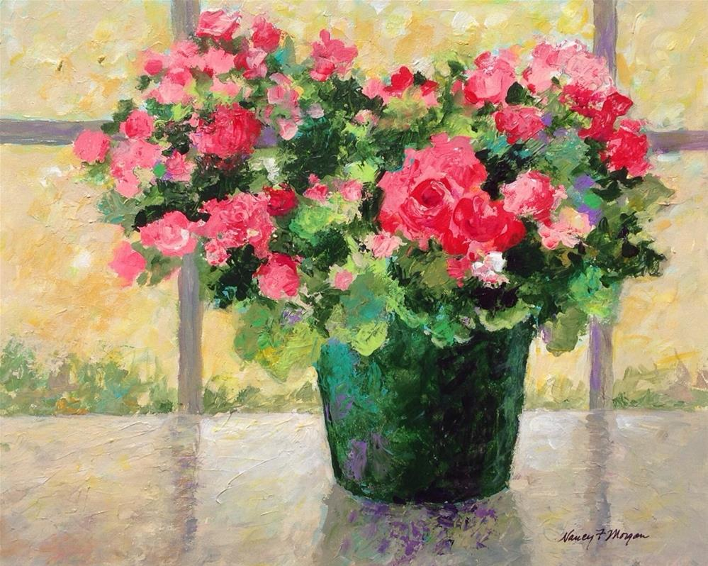 """Begonia"" original fine art by Nancy F. Morgan"