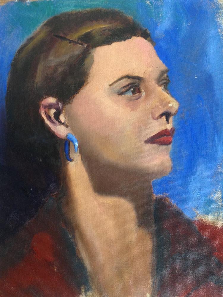 """""""Morgan"""" original fine art by Catherine Clancy"""