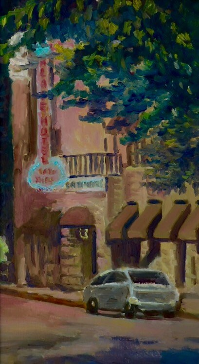 """Palace Hotel en Plein air"" original fine art by Daniel Fishback"