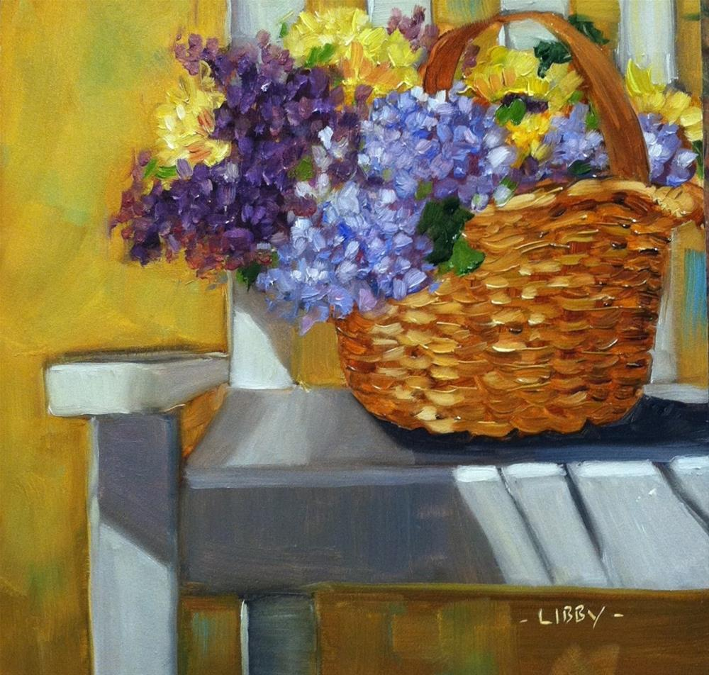 """Chair and Basket"" original fine art by Libby Anderson"