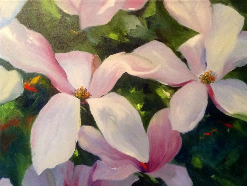 """Magnolias"" original fine art by Cathy Boyd"