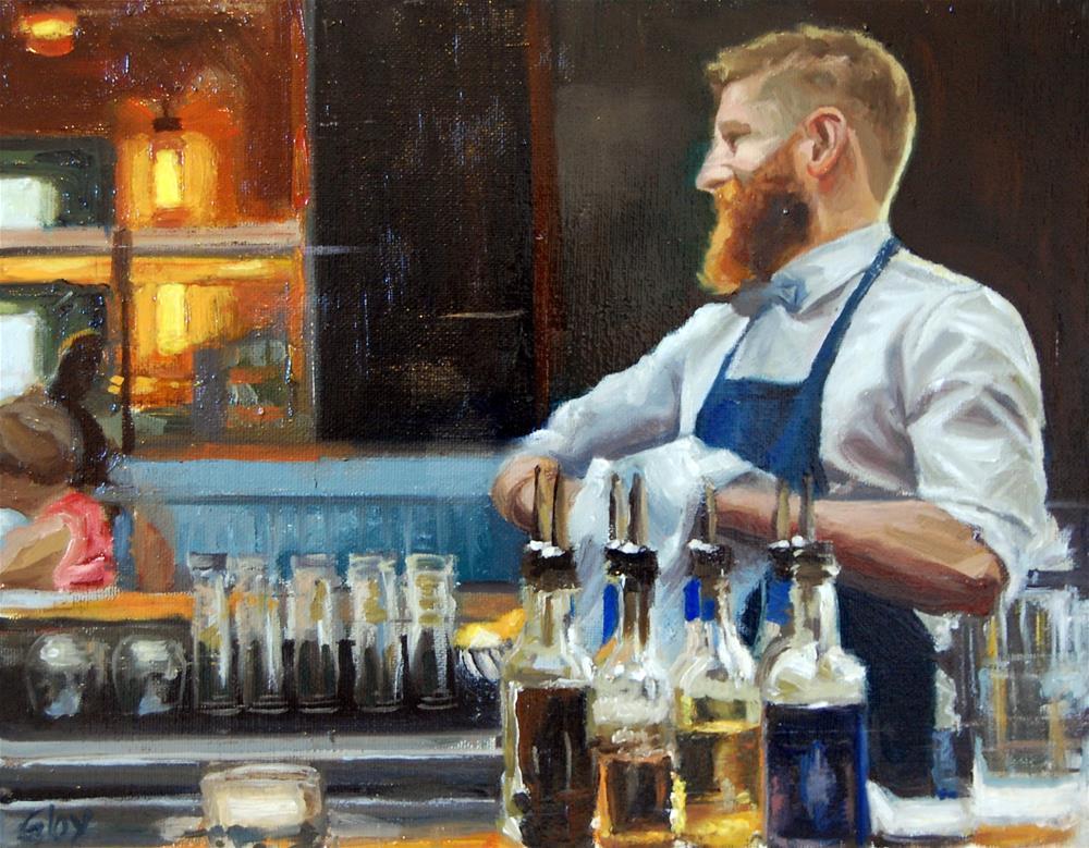 """The Bartender"" original fine art by jeff gloy"