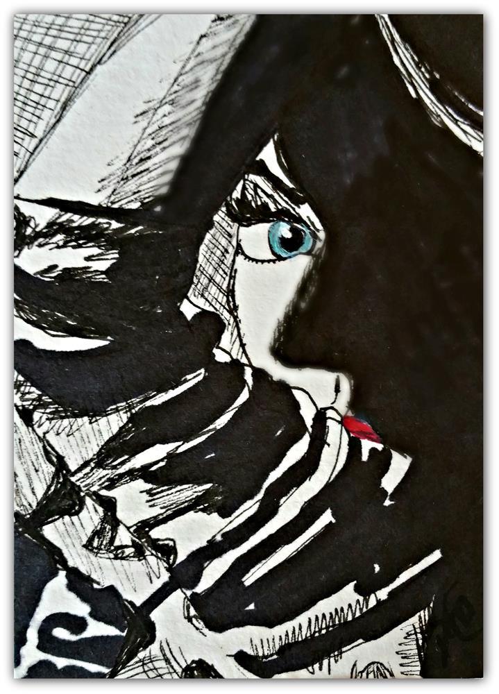 """I See"" original fine art by Dana C"