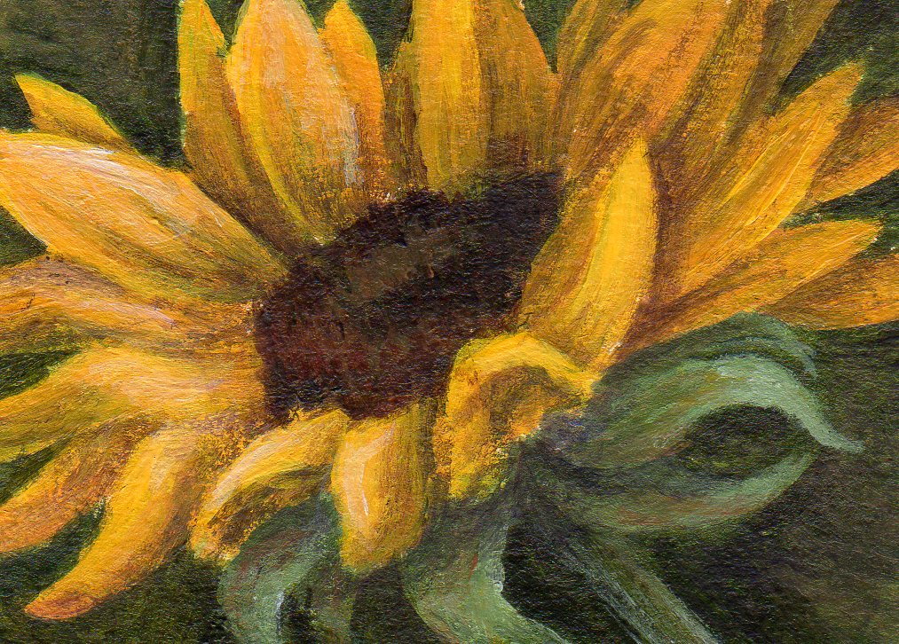 """Golden Flower"" original fine art by Debbie Shirley"