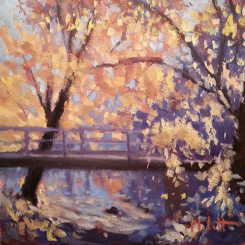 """Autumn Challenge Oil Painting Landscape Carol Marine's DPW Challenge"" original fine art by Heidi Malott"