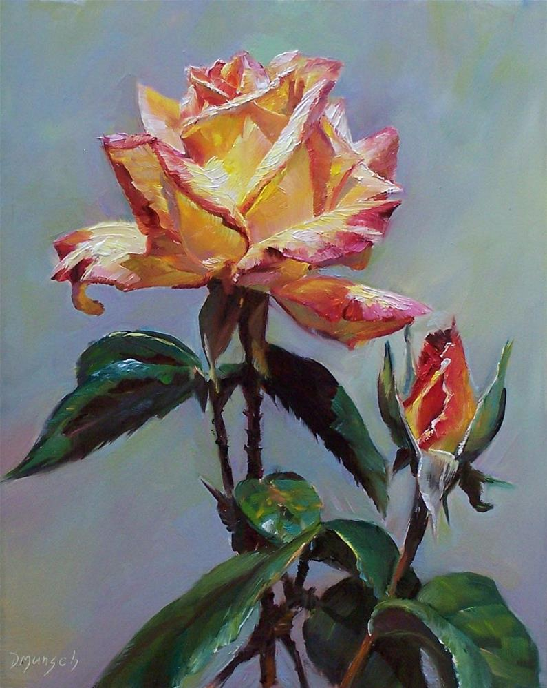 """Rose # 2"" original fine art by Donna Munsch"