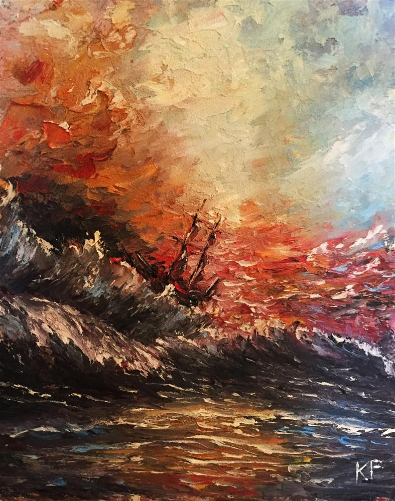 """Rough Sea"" original fine art by Ken Fraser"