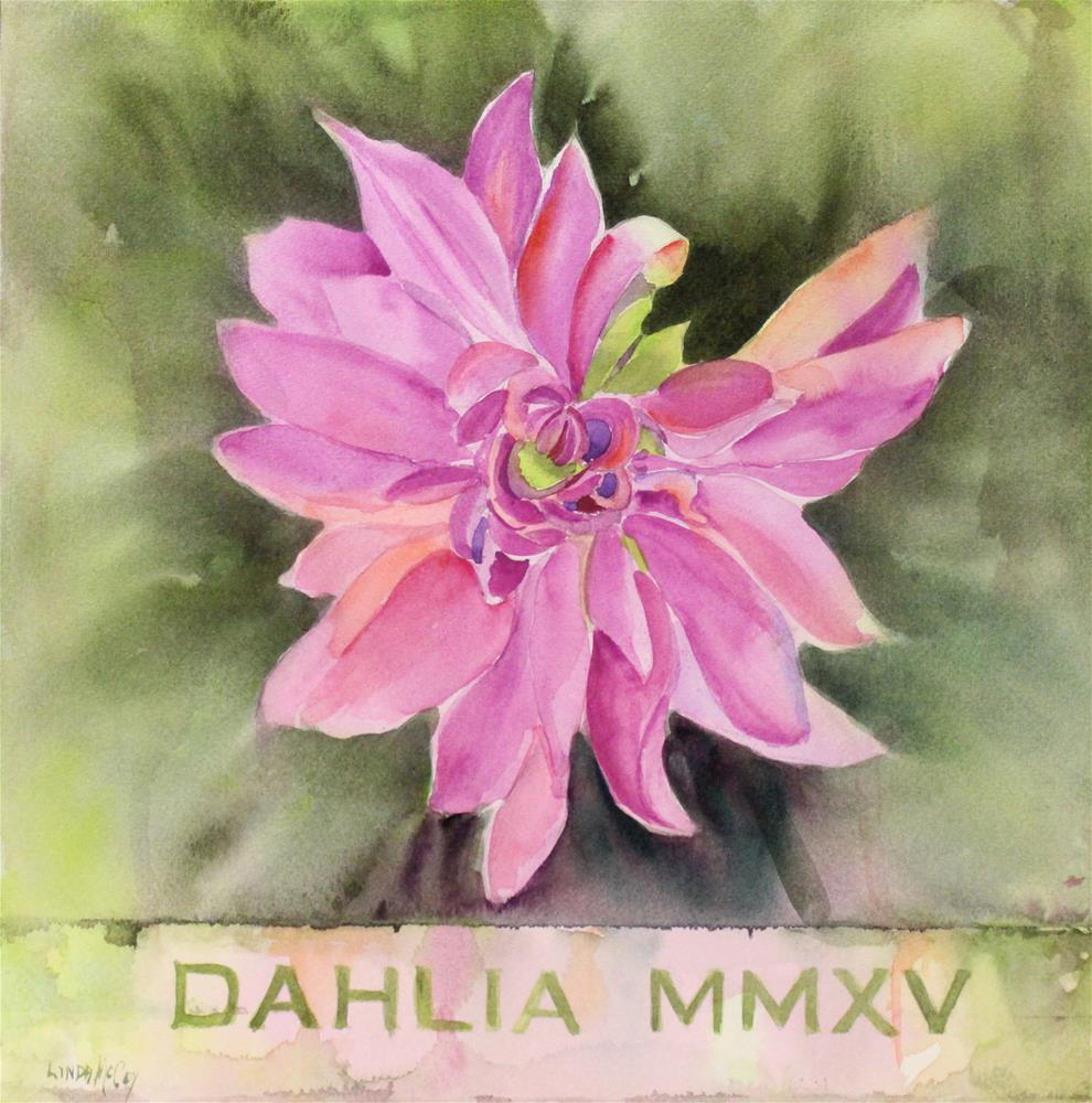 """""""Dahlia 2015"""" original fine art by Linda McCoy"""