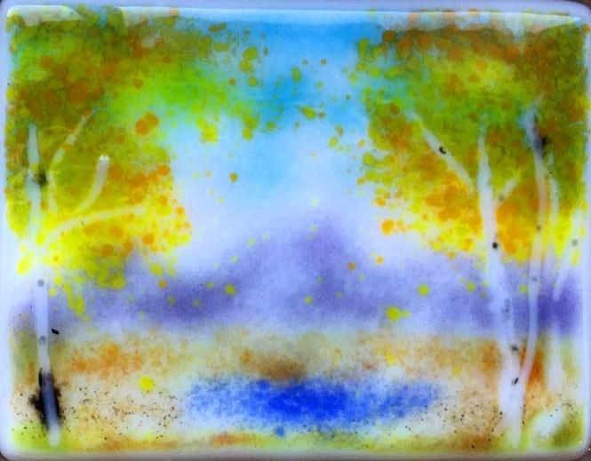 """""""cool aspens"""" original fine art by Kristen Dukat"""