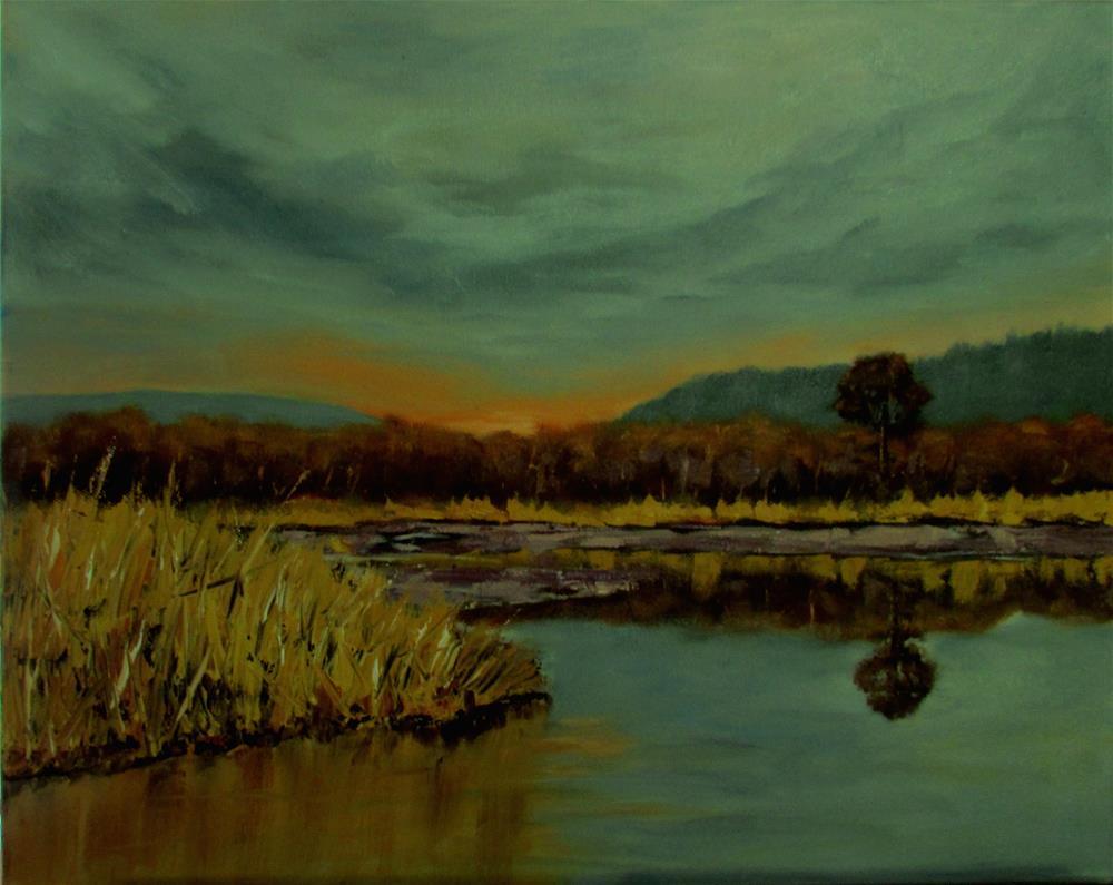 """16 x20 inch oil Mud flats of Cow Bay"" original fine art by Linda Yurgensen"