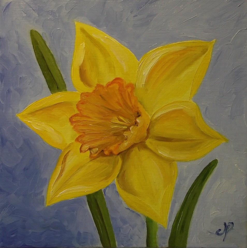 """Daffodil"" original fine art by Jane Palmer"