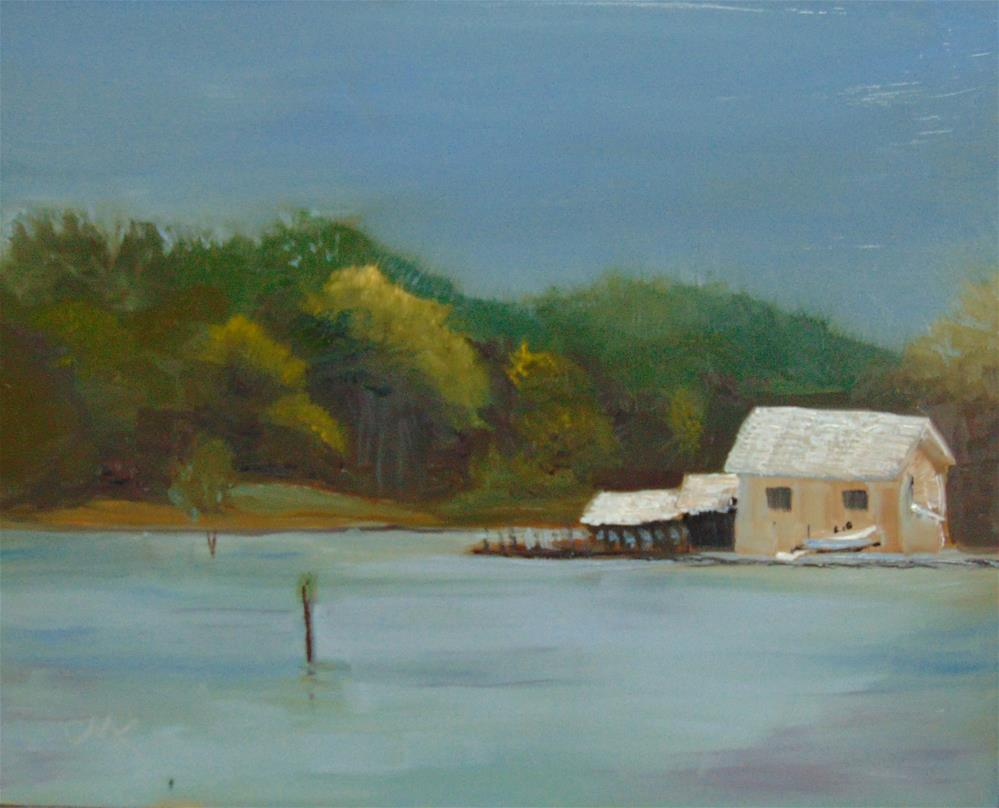 """""""Across from Belle Isle Boat Launch"""" original fine art by Catherine Kauffman"""