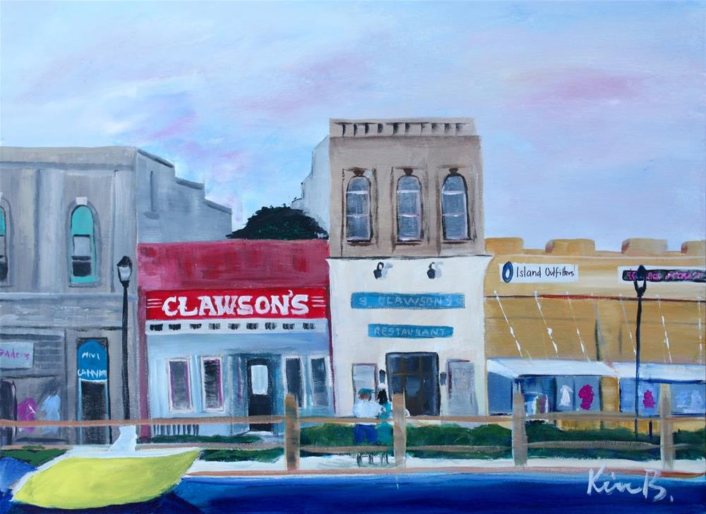 """Beaufort Waterfront 2"" original fine art by Kimberly Balentine"