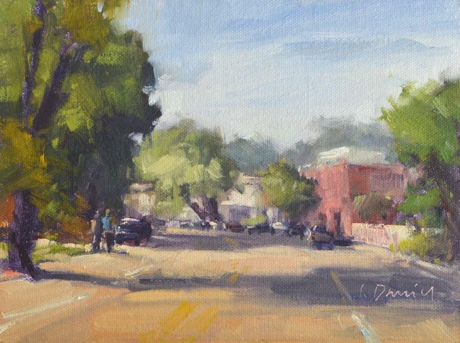 """The Village"" original fine art by Laurel Daniel"