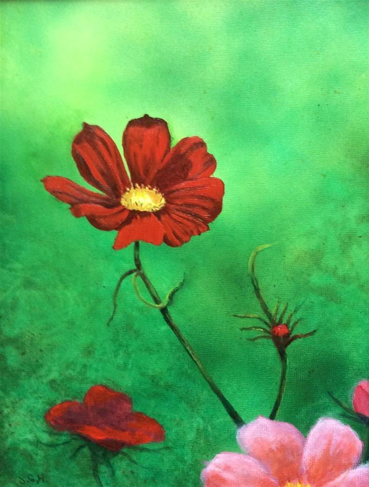 """Cosmos"" original fine art by Susan Hoffheimer"