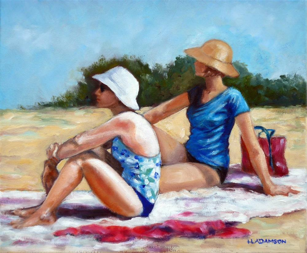 """Everything's Beachy"" original fine art by Helene Adamson"