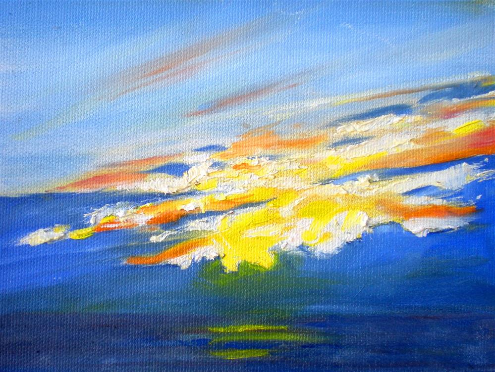 """Sunset Clouds  - 150528s"" original fine art by richard rochkovsky"