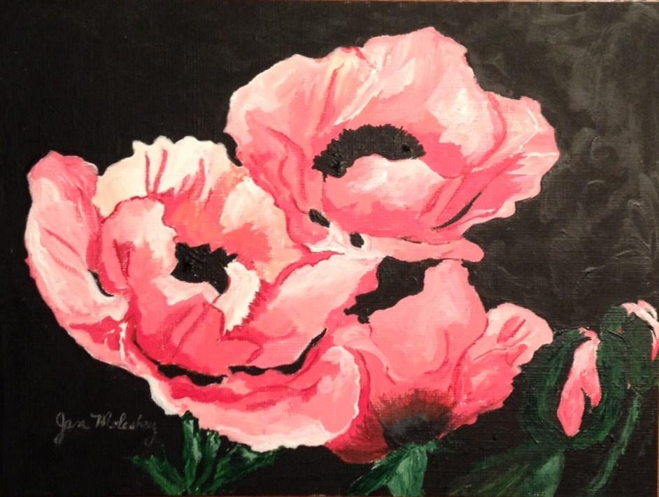 """""""Pretty in Pink"""" original fine art by Jan Molesky"""