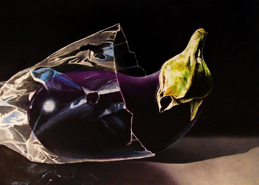 """""""Eggplant"""" original fine art by Jacqueline Gnott, whs"""