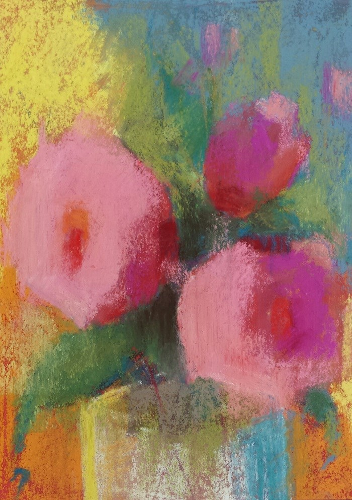 """Almost About Roses"" original fine art by Cindy Haase"