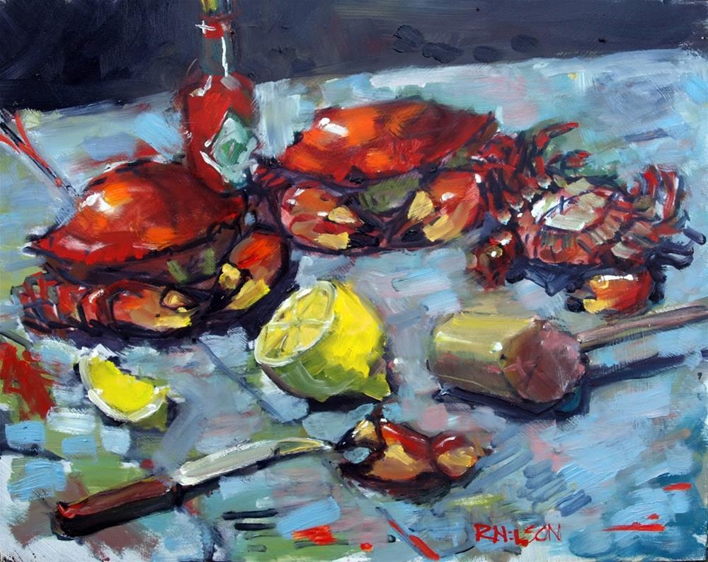 """Feels Like Seafood"" original fine art by Rick Nilson"