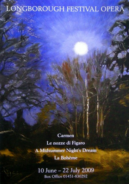 """The Same Moon and Longborough Festival Opera"" original fine art by Robin Weiss"