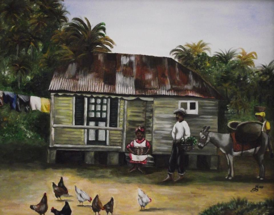 """Jamaican Homestead"" original fine art by Kim Selig"