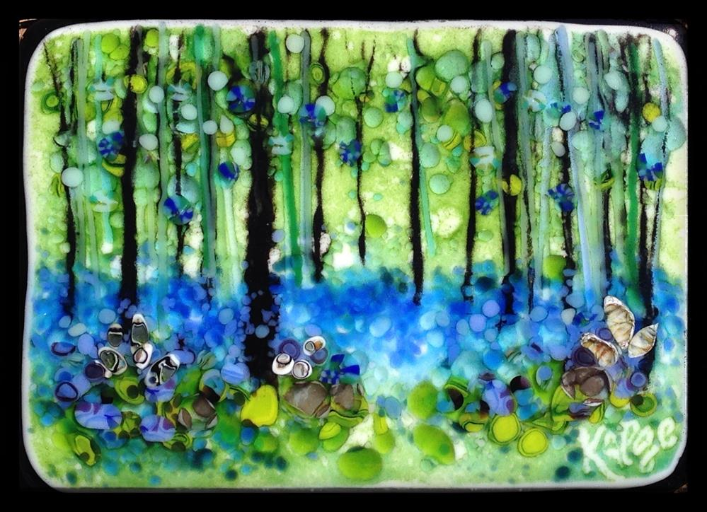 """Blue Green Forest"" original fine art by Kelly Alge"