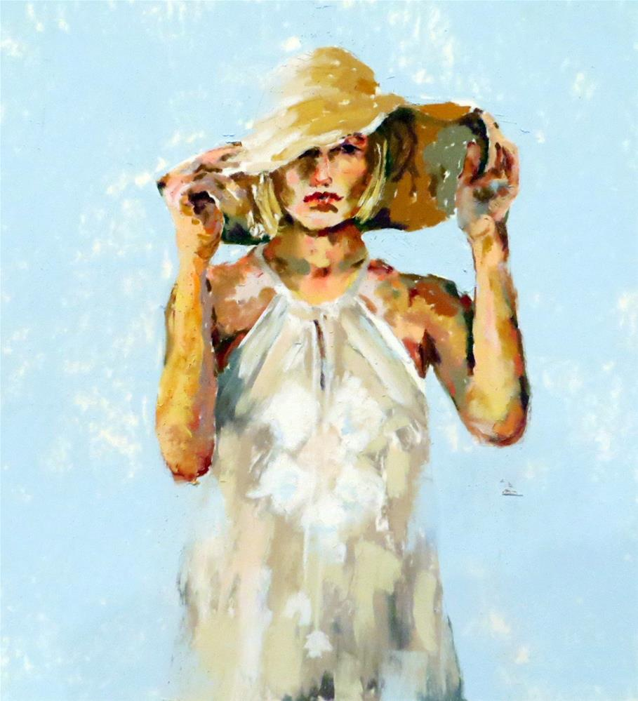 """Straw Hat"" original fine art by Anne Marie Propst"