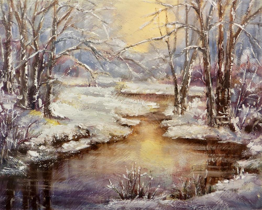 """Late Winter Glow"" original fine art by Tammie Dickerson"