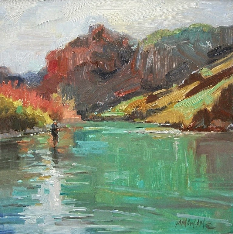 """Early Spring On The Owyhee River"" original fine art by Mary Maxam"