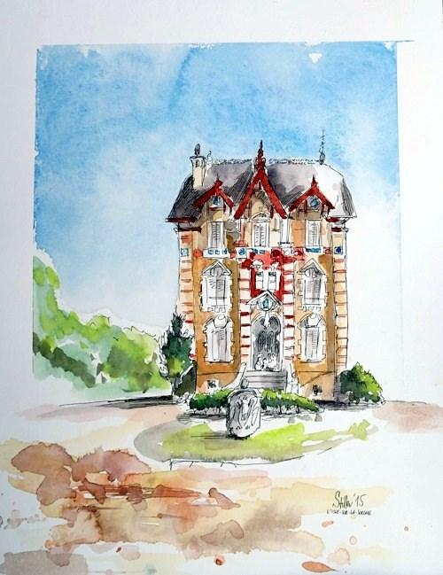 """""""1503 L'Isle-sur-la-Sorgue"""" original fine art by Dietmar Stiller"""