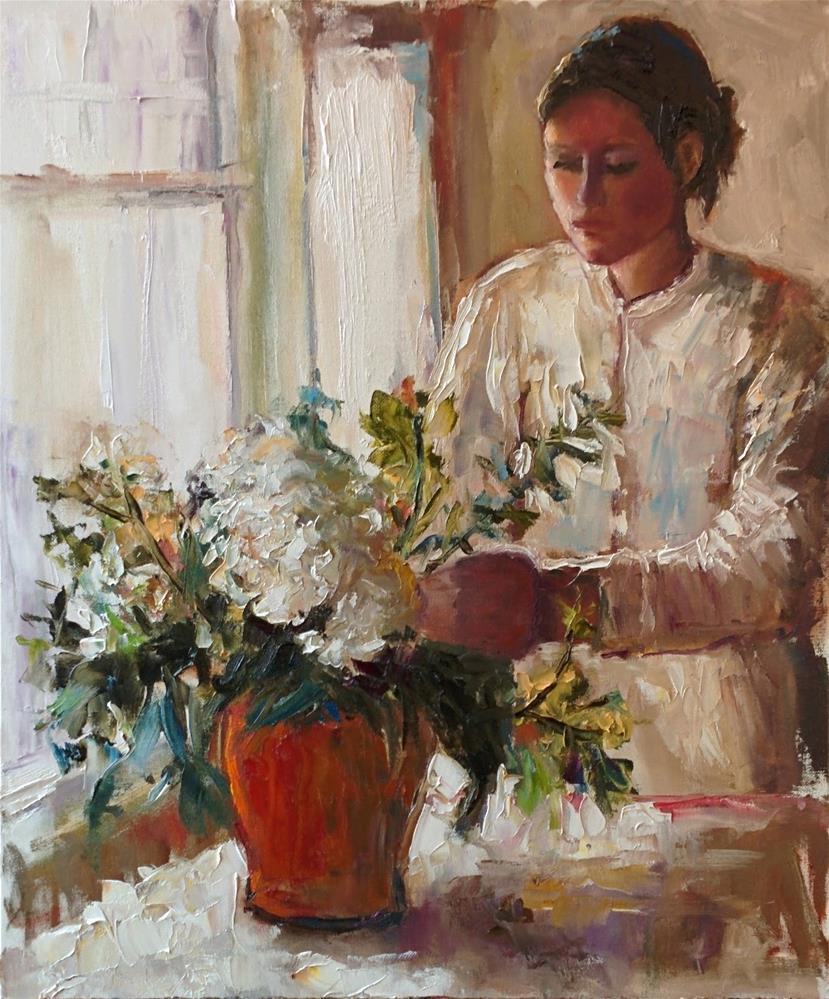 """Flowers by the Window"" original fine art by pepa sand"