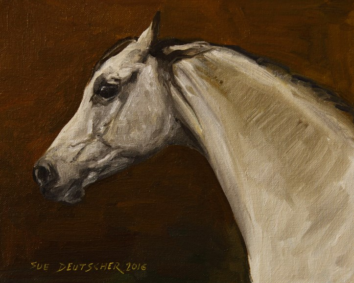 """The Angry Arab"" original fine art by Sue Deutscher"