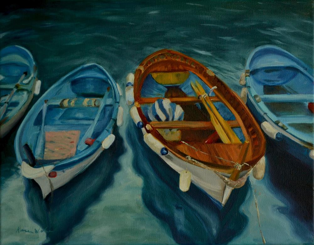 """Would you like to go for a row?"" original fine art by Karen Weber"