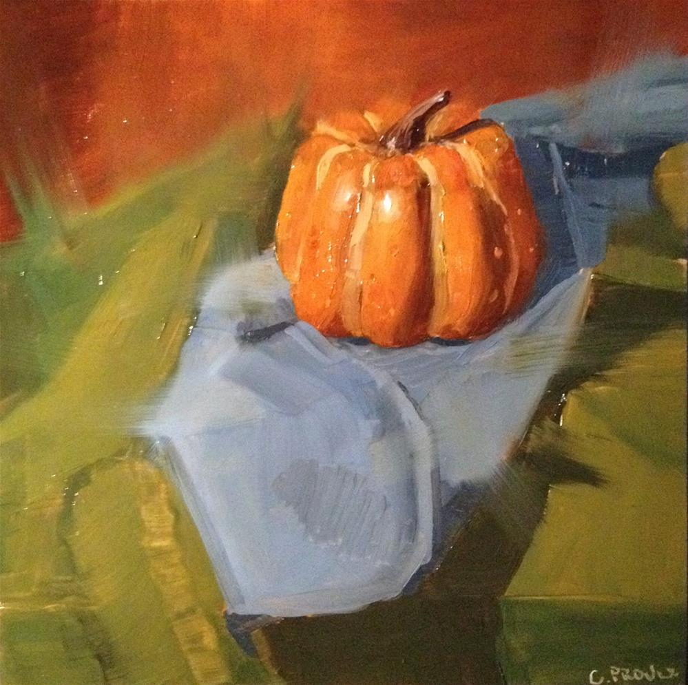 """Loose pumpkin"" original fine art by Cory Proulx"