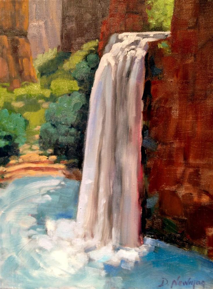"""Havasupai Falls"" original fine art by Deborah Newman"