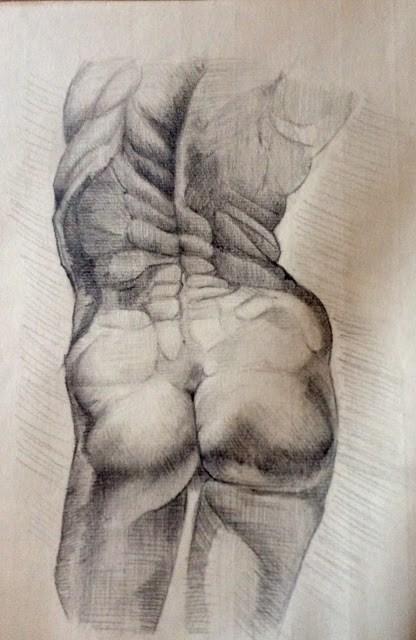 """Anatomical study"" original fine art by Hilary J. England"