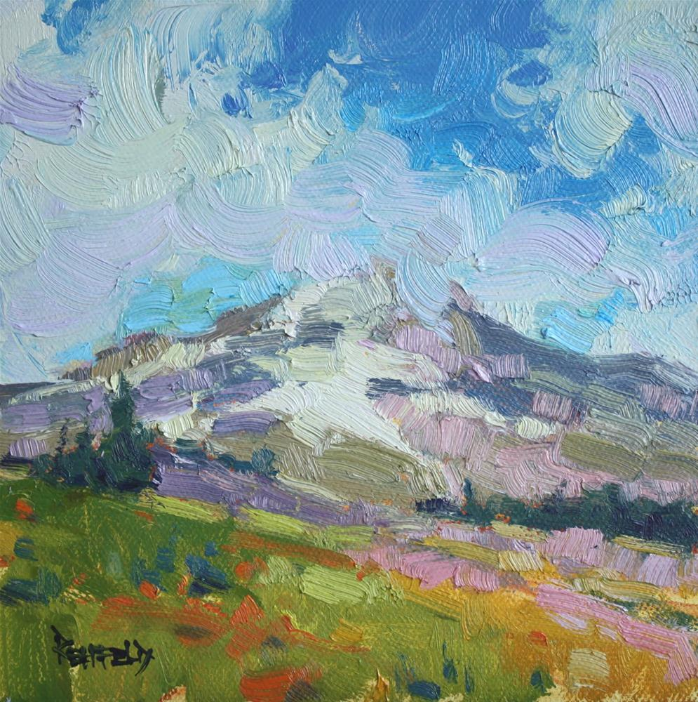 """Mt Hood in the Summer"" original fine art by Cathleen Rehfeld"