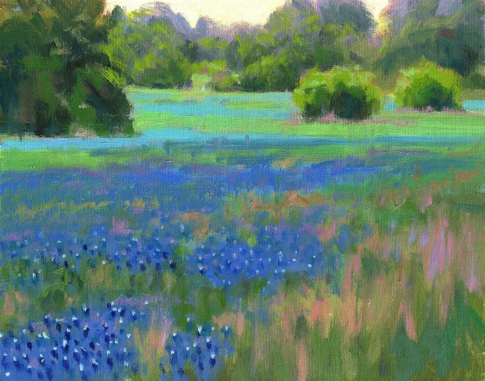 """Pastoral Blue"" original fine art by David Forks"