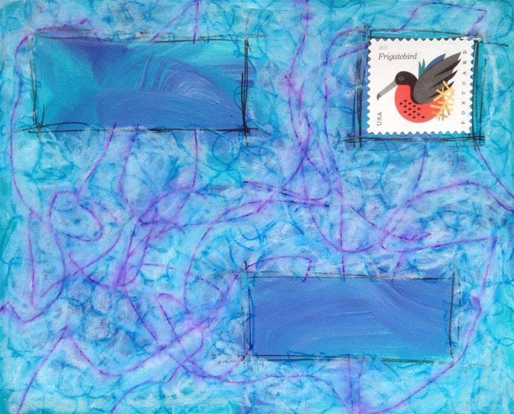 """""""Postcard 12"""" original fine art by Dotty Seiter"""