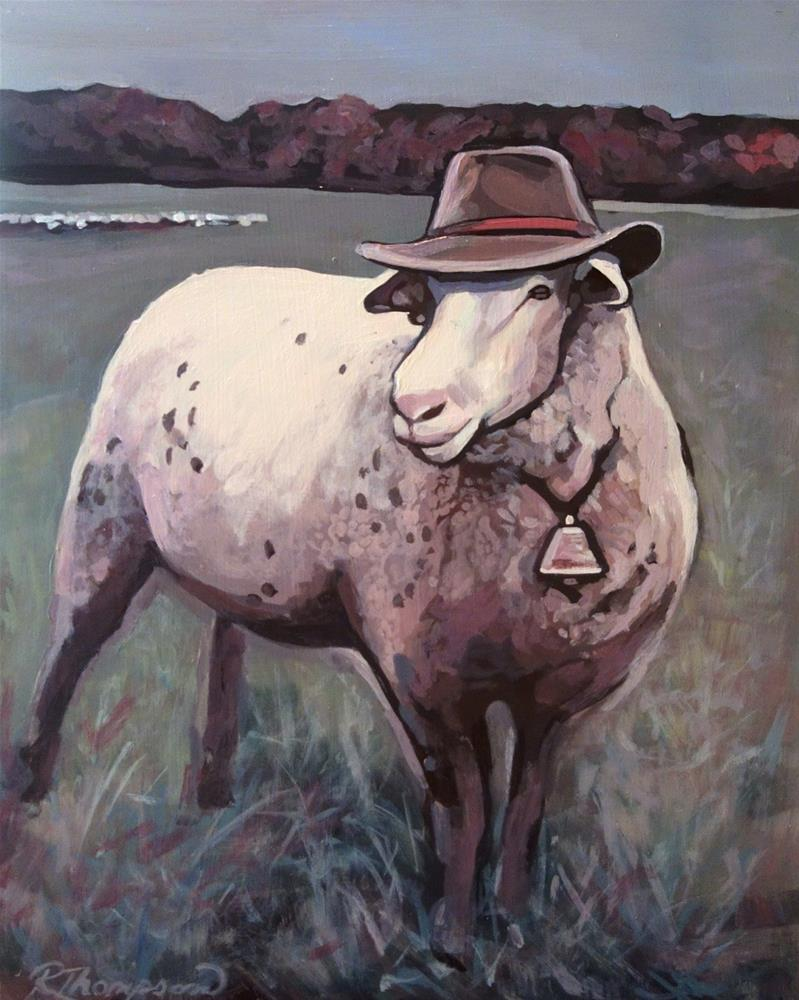"""He's Out-Standing in his field!"" original fine art by Rachel Thompson"