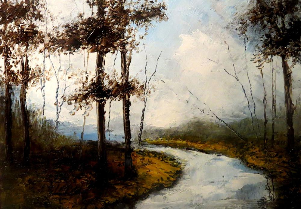 """Lonely River"" original fine art by Bob Kimball"