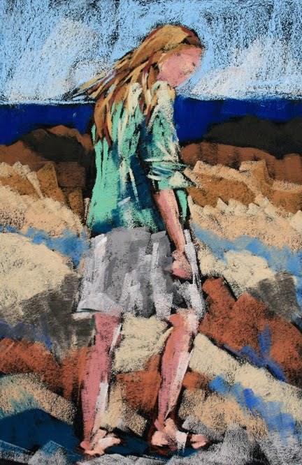 """Billie Study 3"" original fine art by Mary Anne Cary"